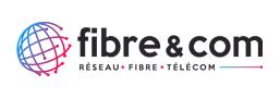 Fibre & com logo sticky